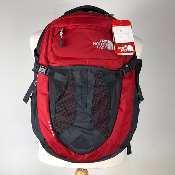 87ff32299 Red Gray unisex North Face Recon Backpack